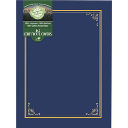 Geographics Document Cover, Tree Free, 8-3/4 inWx11-1/4 inLx1/4 inH, Navy