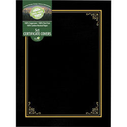 Geographics Document Cover, Tree Free, 8-3/4 inWx11-1/4 inLx1/4 inH, Black