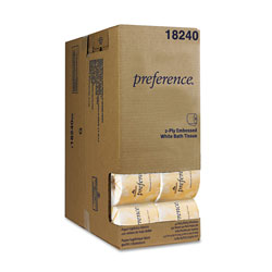 Preference Two-Ply Embossed Bath Tissue, Dispenser Box, 550 Sheets/Roll, 40 Rolls/Carton