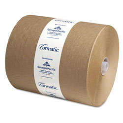 Cormatic Hardwound Roll Towels, 8 1/4 x 700ft, Brown, 6/Carton