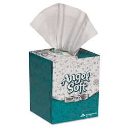 Angel Soft Professional Series® 2-Ply Facial Tissue, Cube Box, 46580, 96 Sheets/Box, 36 Boxes/Case