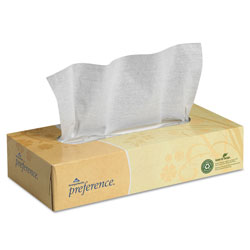 Preference Facial Tissue, Flat Box, 100 Sheets/Box, 30 Boxes/Carton