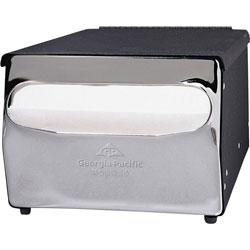 GP 51202 MorNap Black Chrome Cafeteria Model Napkin Dispenser