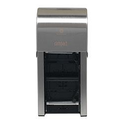 GP Vertical Double Roll Coreless Tissue Dispenser, 6x6.5x13.5, Stainless