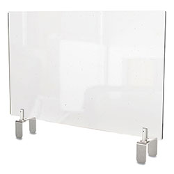 Ghent MFG Clear Partition Extender with Attached Clamp, 29 x 3.88 x 18, Thermoplastic Sheeting