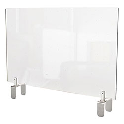 Ghent MFG Clear Partition Extender with Attached Clamp, 29 x 3.88 x 24, Thermoplastic Sheeting
