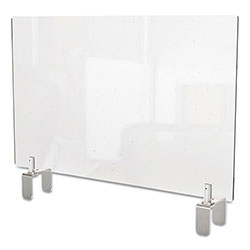 Ghent MFG Clear Partition Extender with Attached Clamp, 36 x 3.88 x 30, Thermoplastic Sheeting