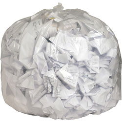 Genuine Joe Clear Trash Bags, 56 Gallon, 0.8 Mil, 43 in X 48 in, Box of 100