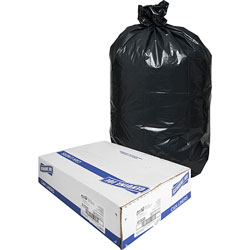 Genuine Joe Black Trash Bags, 33 Gallon, 1.5 Mil, Box of 100