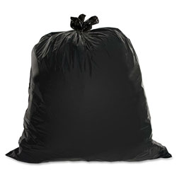 Genuine Joe Black Trash Bags, 60 Gallon, 1.5 Mil, Box of 50