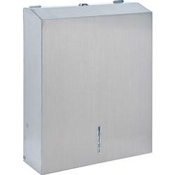Genuine Joe Wall Mount C-Fold / Multi-Fold Paper Towel Dispenser, Stainless Steel