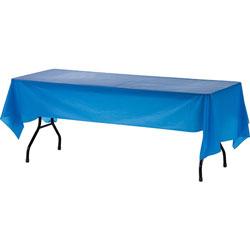Genuine Joe Plastic Tablecover, 54 in x 108 in, 24/CT, Blue