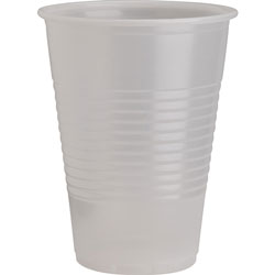 Genuine Joe 9 Oz Cold Plastic Cups, Clear, Pack of 2400