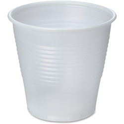 Genuine Joe Translucent Cups, 5oz., 25BG/CT, Clear