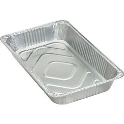 Genuine Joe Disposable Aluminum Pan, Full-Size, 280 oz., Cap, 50/CT, SR