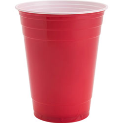 Genuine Joe Party Cups, 16oz., Red