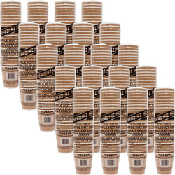Genuine Joe Rippled Hot Cup, 10 OZ, Brown, Case of 500
