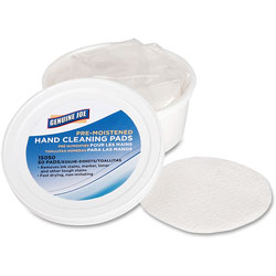 Genuine Joe Pre-moistened Hand Cleaning Pads, 3 in Diameter, 72/CT