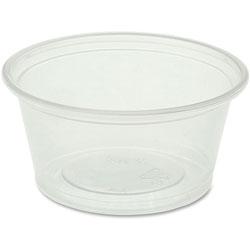 Genuine Joe Portion Cups, 2oz., 50BG/CT, Clear