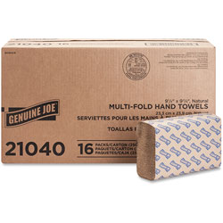 "Genuine Joe 21040 Natural Multifold Towels ,9 4/10"" x 9 1/4"""