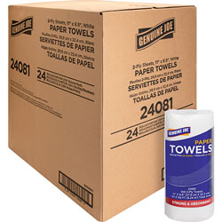 Genuine Joe Paper Towels Roll, 2-Ply, 100 Sheets/Roll, 11 in x 9 in, 24RL/CT, WE