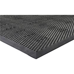 Genuine Joe Free Flow Comfort Anti-fatigue Mat, Black