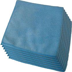 Genuine Joe Microfiber Cloth, General Purpose, Lint Free, 12/BG, Blue