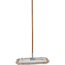 Genuine Joe 24 in Dust Mop with 60 in Handle, 360 Degree Swivel, Chrome Plated