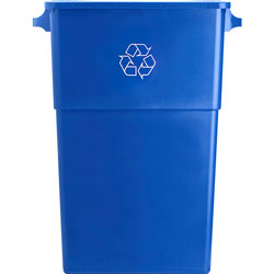 Genuine Joe Blue Recycling Container, 23 Gallon