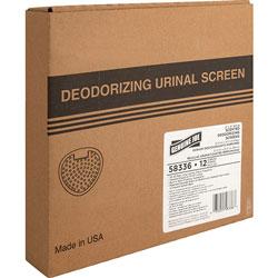 Genuine Joe Urinal Screen, 30/45 Days, 12/Pack, Cherry Scent/White