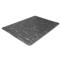 Genuine Joe Anti-Fatigue Mat, 3' x 5', Gray Marble
