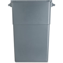 Genuine Joe Rectangle Plastic Indoor Trash Can, 23 Gallon, Gray
