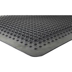 Genuine Joe Beveled Edge Anti-Fatigue Mat, 3' x 5', Black