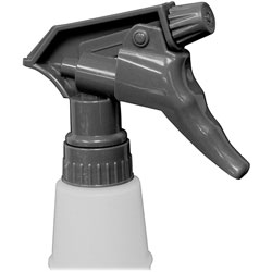 Genuine Joe Liquid Cleaner Plastic Spray Trigger, 100/CT, Gray