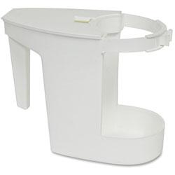 Genuine Joe Toilet Bowl Mop Caddy, White