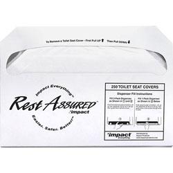 Genuine Joe Toilet Seat Covers, 1/2 Fold, 250/PK, White