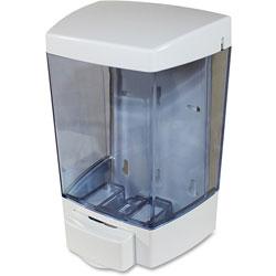 Genuine Joe Liquid Soap Dispenser, 46oz, 1.6 in x 5.5 x 4.3 in, White, 12/CT, White