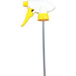 Genuine Joe Trigger Sprayer, Chemical Resistant, 28mm, Yellow