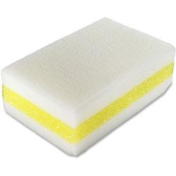 Genuine Joe Cleaning Sponges, Chemical-free, 4-1/2 inx2-4/5 inx4-1/2 in, 30/CT, White