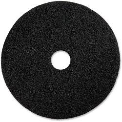 Genuine Joe Floor Stripping Pads, 17 in, 5/CT, Black
