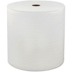 Genuine Joe Hardwound Roll Towels, 1-Ply, 6RL/CT, White