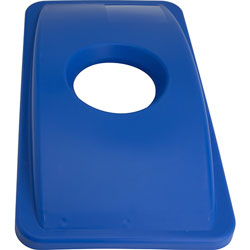 Genuine Joe Recycle Hold Lid, 23 Gallon, Blue