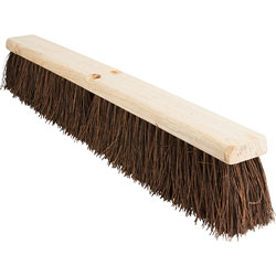Genuine Joe Palmyra Push Broom, 24 in, Brown