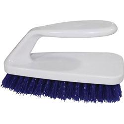 Genuine Joe Iron Handle Brush, 6/CT, Blue/White