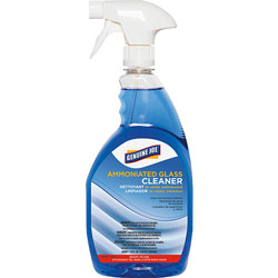 Genuine Joe Glass Cleaner, Ammoniated, Spray Bottle, 32 oz.