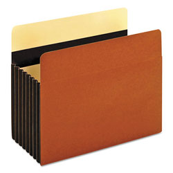 Pendaflex Heavy-Duty File Pockets, 7 in Expansion, Letter Size, Redrope, 5/Box