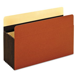 Pendaflex Heavy-Duty File Pockets, 7 in Expansion, Legal Size, Redrope, 5/Box