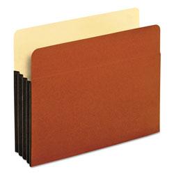Pendaflex File Pocket w/ Tyvek, 3.5 in Expansion, Letter Size, Redrope, 10/Box