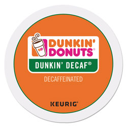 Dunkin' Donuts K-Cup Pods, Dunkin' Decaf, 24/Box