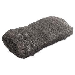 Global Material Industrial-Quality Steel Wool Hand Pad, #1 Medium, 16/Pack, 192/Carton